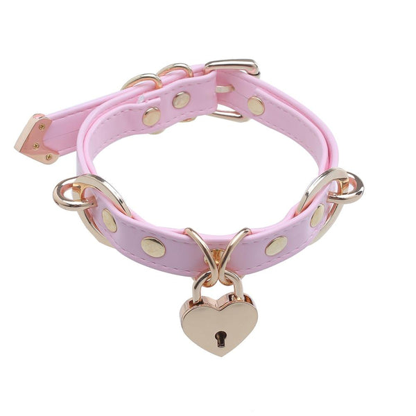 Heart Locker Ring Collar SD00511 - SYNDROME - Cute Kawaii Harajuku Street Fashion Store
