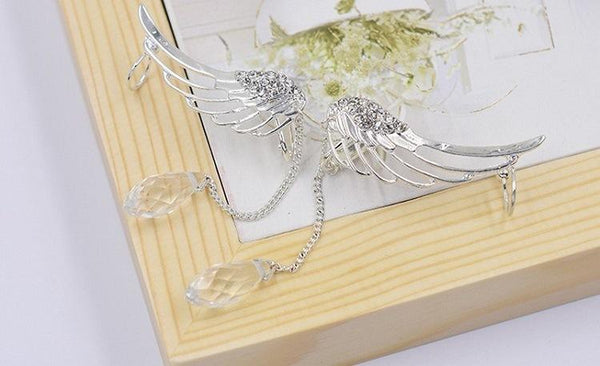 Angel Wing Crystal Earrings SD02371 - SYNDROME - Cute Kawaii Harajuku Street Fashion Store