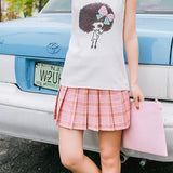 Double Color Plaid Skirt SD00628 - SYNDROME - Cute Kawaii Harajuku Street Fashion Store