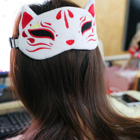 Kami Kitsune God Fox Plush Sleeping Mask SD00641