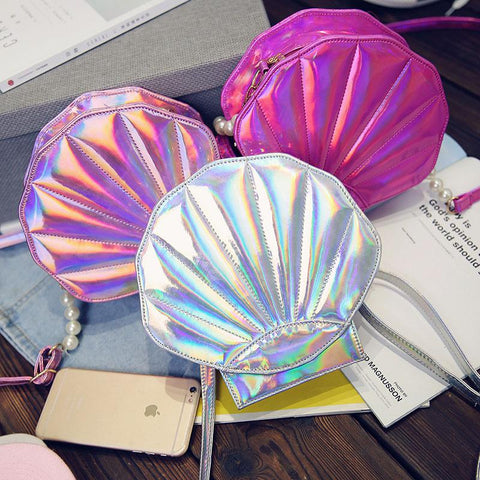 Japanese Harajuku Holographic Seashell Bag SD01143