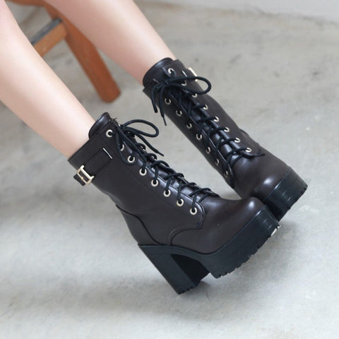 Martin Strap Boots Shoes SD01149 - SYNDROME - Cute Kawaii Harajuku Street Fashion Store