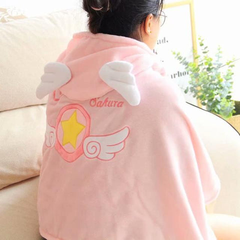 Cardcaptor Sakura Winged Hoodie Cloak SD00436 - SYNDROME - Cute Kawaii Harajuku Street Fashion Store