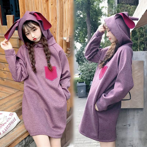 Bunny Hoodie Dress SD01053 - SYNDROME - Cute Kawaii Harajuku Street Fashion Store