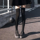 Black Velvet Thigh High Tights SD01068 - SYNDROME - Cute Kawaii Harajuku Street Fashion Store