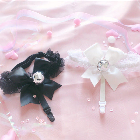 Bell Bow Lace Leg Band Garter SD00984 - SYNDROME - Cute Kawaii Harajuku Street Fashion Store