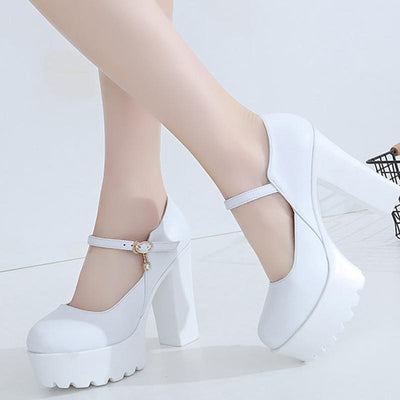 Black lolita Strap High Heels Shoes SD00229 - SYNDROME - Cute Kawaii Harajuku Street Fashion Store
