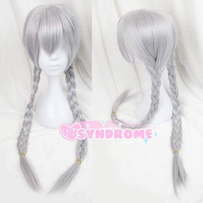 Silver Grey Long Braided Zootopia Judy Hopps Cosplay Wig SD00570