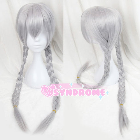 Silver Grey Long Braided Wig Zootopia Judy Hopps Cosplay SD00570
