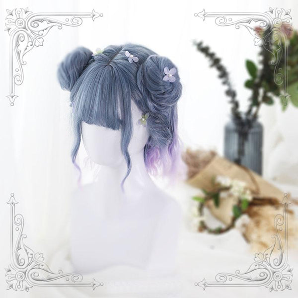Japanese Harajuku Gradient Blue Violet Wig SD02286 - SYNDROME - Cute Kawaii Harajuku Street Fashion Store