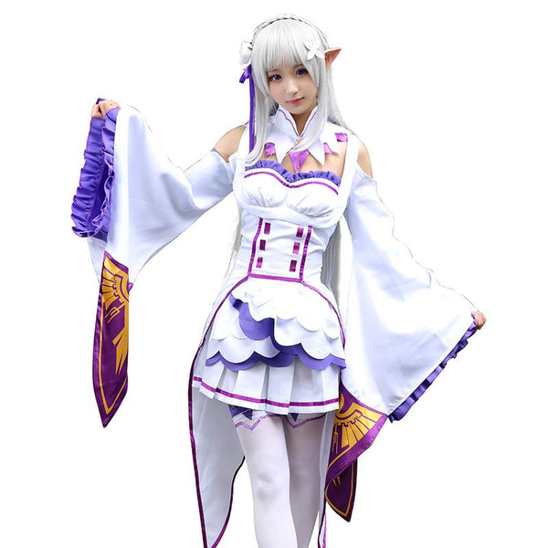 Re:Zero Emilia Cosplay Dress SD00577 - SYNDROME - Cute Kawaii Harajuku Street Fashion Store