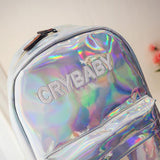 Japanese holographic crybaby backpack SD00659 - SYNDROME - Cute Kawaii Harajuku Street Fashion Store