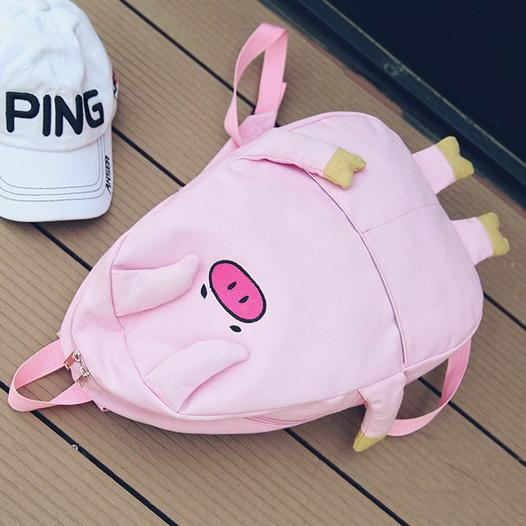 Cute Japanese Harajuku Pig Face and Legs Pink School Backpack SD14593 - SYNDROME - Cute Kawaii Harajuku Street Fashion Store
