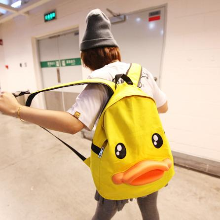 Cute duck face yellow backpack SD02140 - SYNDROME - Cute Kawaii Harajuku Street Fashion Store