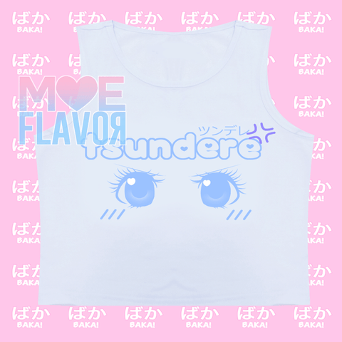 Cute Tsundere Sleeveless Crop Top SD00809 - SYNDROME - Cute Kawaii Harajuku Street Fashion Store