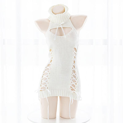 White Strap Virgin Killer Sweater SD00004 - SYNDROME - Cute Kawaii Harajuku Street Fashion Store