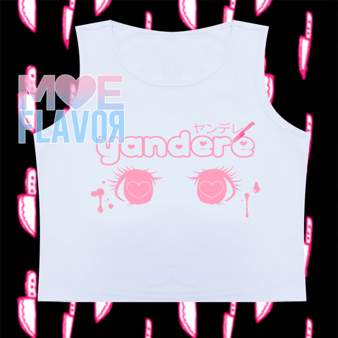 Cute Yandere Sleeveless Crop Top SD00810 - SYNDROME - Cute Kawaii Harajuku Street Fashion Store