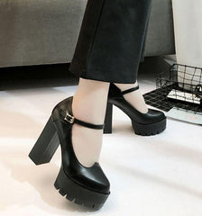 Black lolita strap high heels shoes SD00229