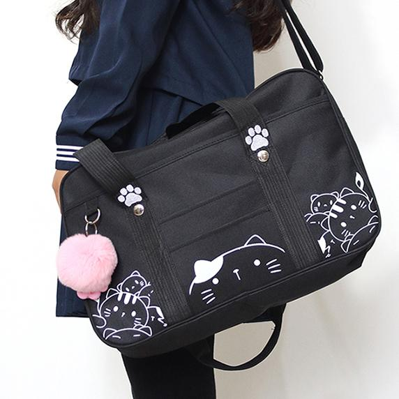 Japanese Neko Cat School Shoulder Bag SD01645 – SYNDROME - Cute Kawaii  Harajuku Street Fashion Store 20955dc74