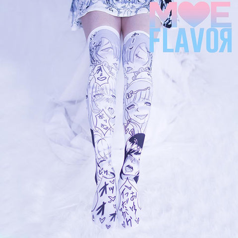 Ahegao Darling in the Franxx  Re:Zero Fate Stay Night Knee Thigh High Socks SD00222 - SYNDROME - Cute Kawaii Harajuku Street Fashion Store