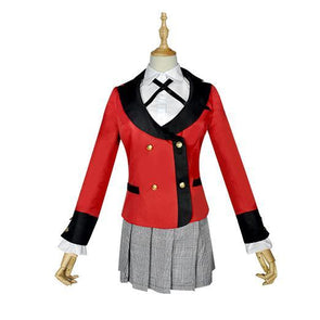 Kakegurui anime Kirari Momobami school uniform jacket/shirt/skirt/wig SD01015