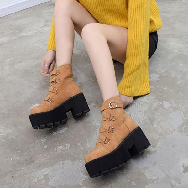 Harajuku Strap Punk Boots shoes SD00072 - SYNDROME - Cute Kawaii Harajuku Street Fashion Store