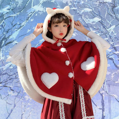 Winged Winter Cape SD01157 - SYNDROME - Cute Kawaii Harajuku Street Fashion Store