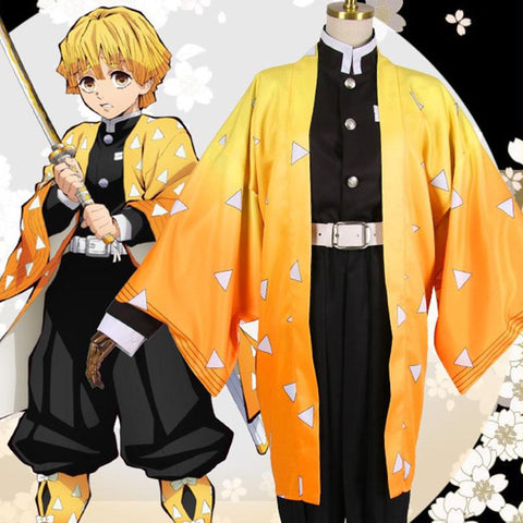 Demon Slayer: Kimetsu No Yaiba Zenitsu Agatsuma Cosplay SD01257