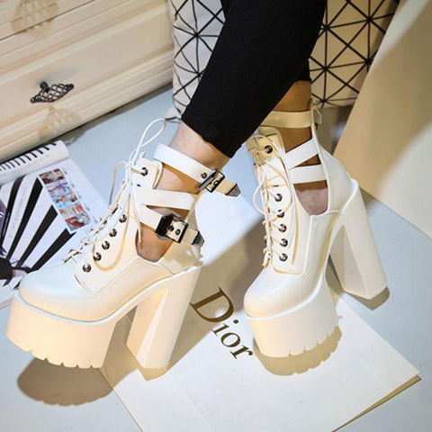 Japanese Harajuku High Platform Strap High-heels Shoes SD02009