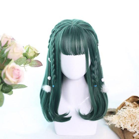 Dark Green Gradient Short Wig SD00218 - SYNDROME - Cute Kawaii Harajuku Street Fashion Store