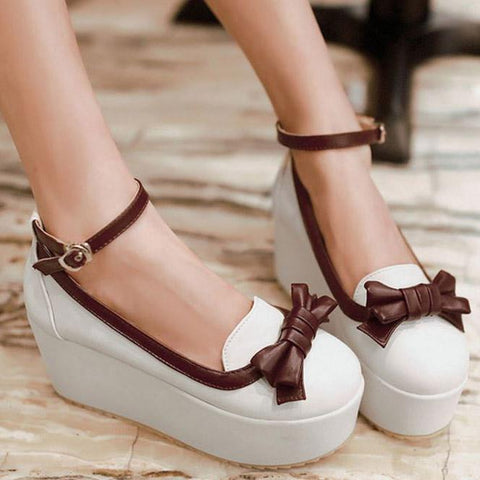 Lolita  Bow strap Platform Shoes SD00246 - SYNDROME - Cute Kawaii Harajuku Street Fashion Store