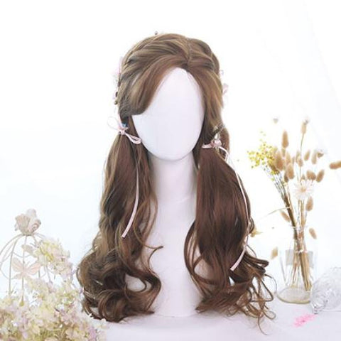 Honey Pudding Brown Long Wave Wig SD00219