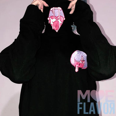 SALE Ahegao Drooling Turtle Neck Sweater MF01185 - SYNDROME - Cute Kawaii Harajuku Street Fashion Store