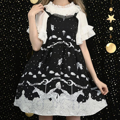 Night Fall Pegasus Lolita Strap Dress SD02433 - SYNDROME - Cute Kawaii Harajuku Street Fashion Store