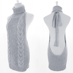 Japanese Virgin Killer Sweater Dress SD02263