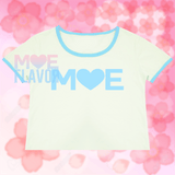 Moe Blue and White Crop Top MF01120