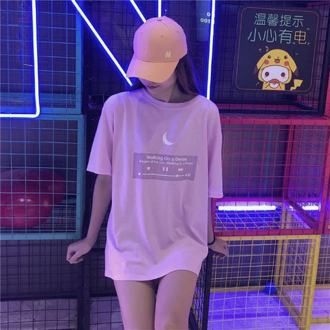 Moon Playlist T-shirt SD00520 - SYNDROME - Cute Kawaii Harajuku Street Fashion Store