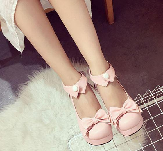 Japanese kawaii bow collared high heel shoes SD00245 - SYNDROME - Cute Kawaii Harajuku Street Fashion Store