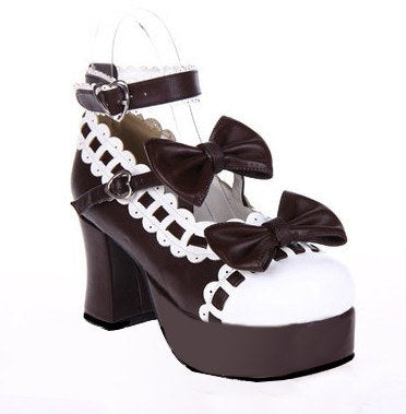 Dolly Japanese Harajuku Lolita Bow Lace High-Heeled Shoes SD00198 - SYNDROME - Cute Kawaii Harajuku Street Fashion Store
