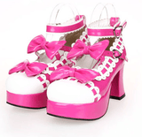 Dolly Lolita Bow Lace High-Heeled Shoes SD00103 - SYNDROME - Cute Kawaii Harajuku Street Fashion Store
