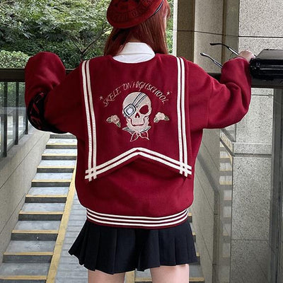 Skeleton Sailor School Sweater SD00291 - SYNDROME - Cute Kawaii Harajuku Street Fashion Store
