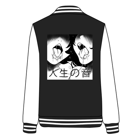 Japanese Erotic Hentai Lewd For Life Drooling Anime Girls Baseball Jacket SD02706