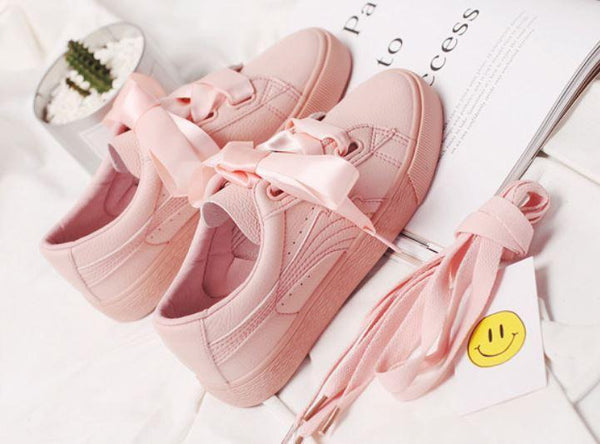 Ribbon Sneaker Shoes SD00906 - SYNDROME - Cute Kawaii Harajuku Street Fashion Store