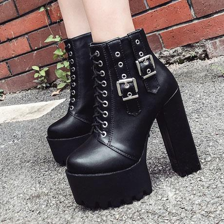 Straps Down High Heels Shoes SD00391 - SYNDROME - Cute Kawaii Harajuku Street Fashion Store