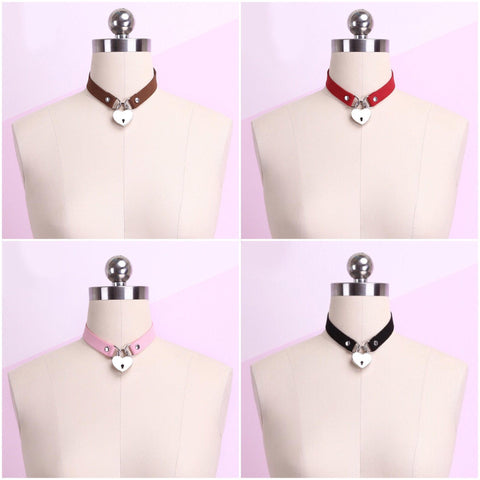 Harajuku Heart Key locker Collar SD00527 - SYNDROME - Cute Kawaii Harajuku Street Fashion Store