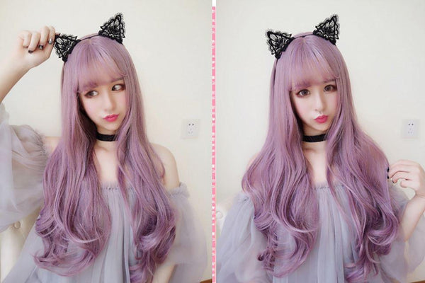 Harajuku Wave Long Purple Wig SD00636 - SYNDROME - Cute Kawaii Harajuku Street Fashion Store