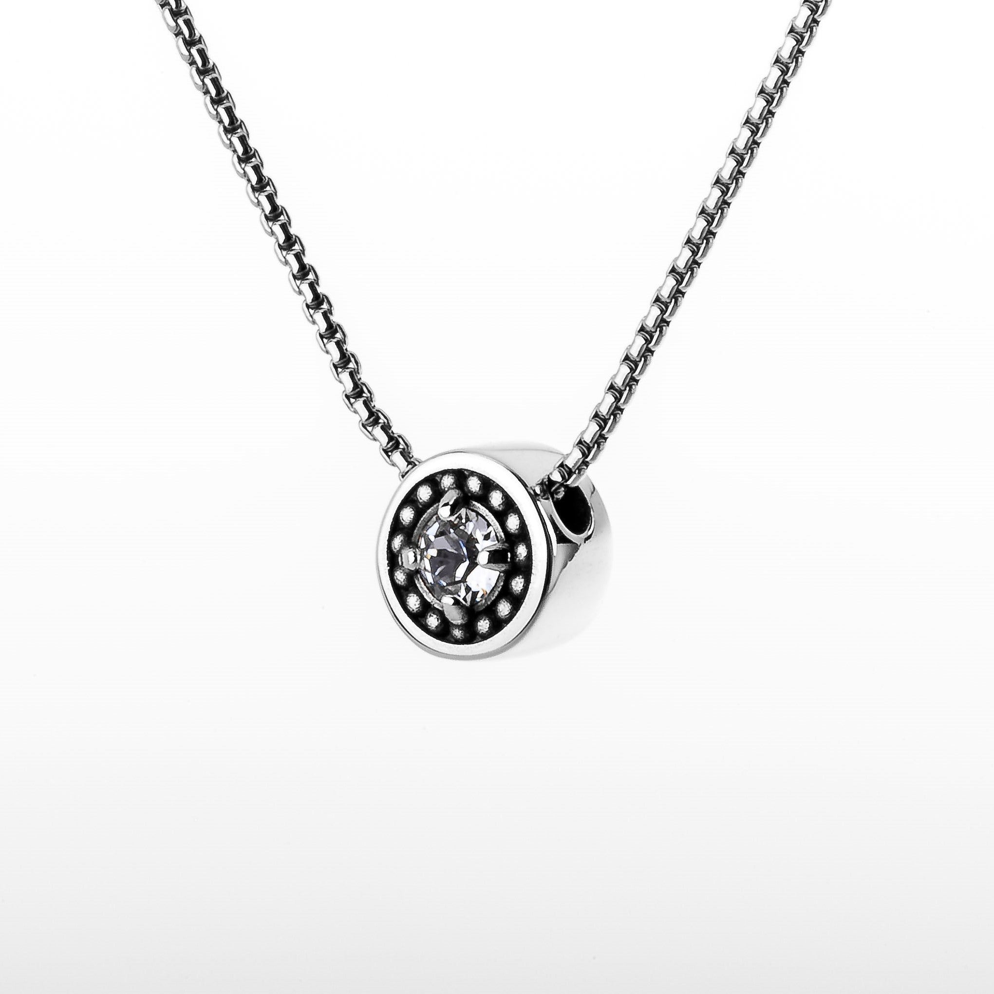 "April Diamond Birthstone Necklace - The Generations ""Petite"""