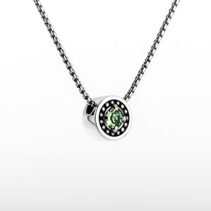 "August Peridot Birthstone Necklace - The Generations ""Petite"""