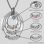 "GREAT GRANDMOTHERS ""FAITH"" BIRTHSTONE NECKLACE"