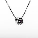 "January Garnet Birthstone Necklace - The Generations ""Petite"""